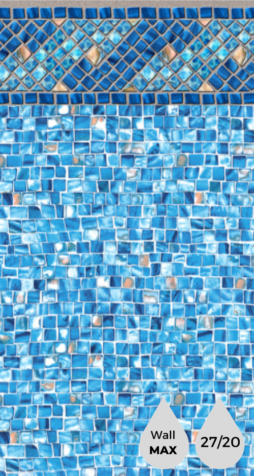Azure Diamond Tile - Oyster Bay Bottom