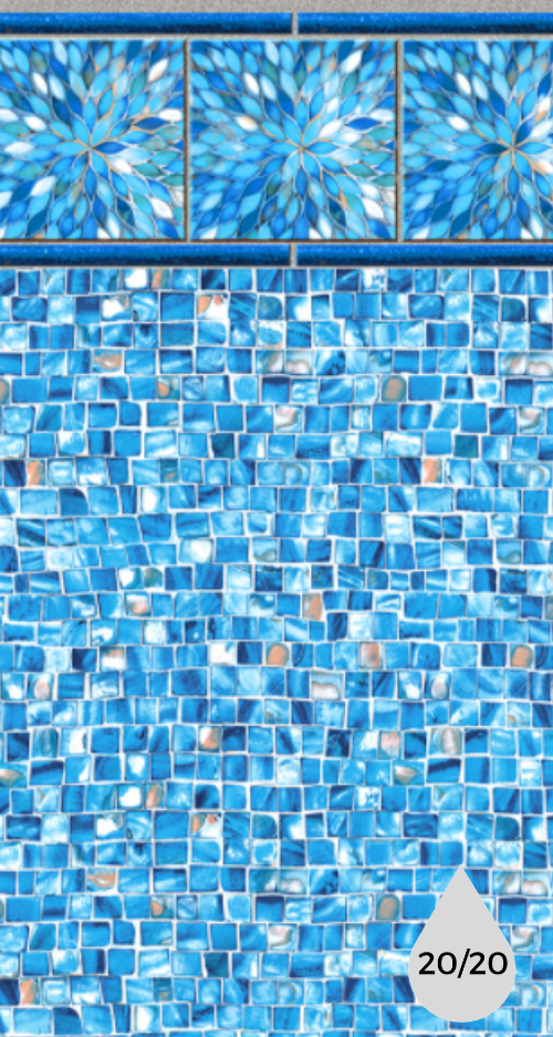Azure Sunburst Tile - Oyster Bay Bottom